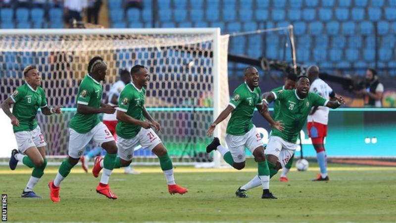 Madagascar 2 DR Congo 2 (AET) Madagascar win 4 – 2 on penalties