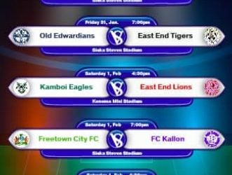 Sierra Leone Premier League up-coming fixtures