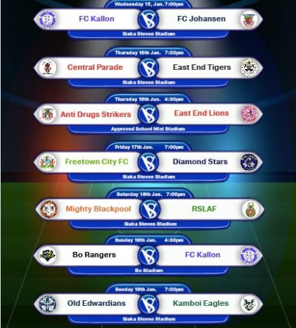 Sierra Leone Premier League upcoming matches