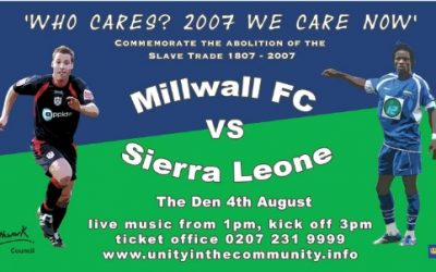Back in Time: Millwall vs Sierra Leone to commemorate Abolition 200